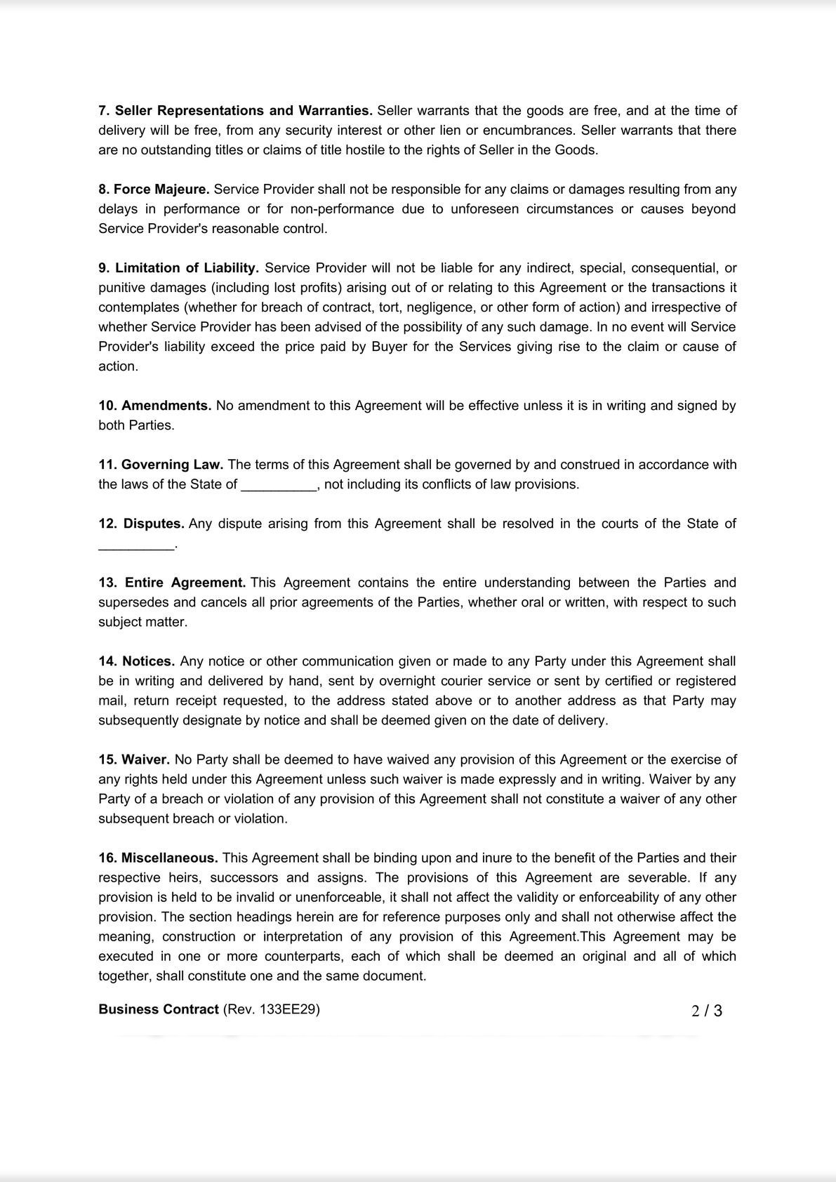 Simple service agreement-1