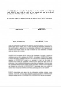 Simple service agreement