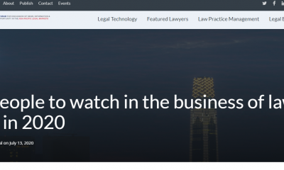 Asia Law Portal named Codelex Legaltech CEO Zolo Mundur as one of 30 people to watch in the business of law in Asia in 2020